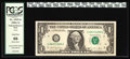 "Error Notes:Blank Reverse (100%), Fr. 1915-G $1 1988A Federal Reserve Note PCGS Gem New 66.. One attribute of the ""Blank Back"" error is that the details of th..."