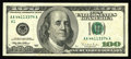 Error Notes:Blank Reverse (100%), Fr. 2175-A $100 1996 Federal Reserve Note. About Uncirculated. A blank reverse example, scarce on hundreds and especially sc...