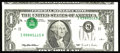 Error Notes:Inverted Third Printings, Fr. 1921-K $1 1995 Federal Reserve Note. Choice AboutUncirculated.. Someone pinched a fold down the center and put thisTyp...