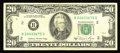 Error Notes:Mismatched Serial Numbers, Fr. 2074-B $20 1981A Federal Reserve Note. Very Fine.. This single digit mismatch circulated extensively before being seen f...