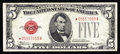 Small Size:Legal Tender Notes, Fr. 1528* $5 1928C Legal Tender Note. Extremely Fine.. A bright and well centered early $5 Legal Tender star displaying love...