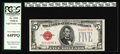 Small Size:Legal Tender Notes, Fr. 1529 $5 1928D Legal Tender Note. PCGS Very Choice New 64PPQ.. Strong, original embossing is seen through the third party...