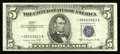Small Size:Silver Certificates, Fr. 1657* $5 1953B Silver Certificate. Very Fine.. This scarce issue is missing from many small size collections. Don't pass...