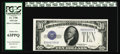Small Size:Silver Certificates, Fr. 1700 $10 1933 Silver Certificate. PCGS Choice New 63PPQ.. This lovely example of the key piece to the Silver Certificate...