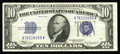 Small Size:Silver Certificates, Fr. 1702 $10 1934A Silver Certificate. Face Plate 87. Extremely Fine-About Uncirculated.. This is a truly rare note in any g...
