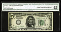 Small Size:Federal Reserve Notes, Fr. 1951-I $5 1928A Federal Reserve Note. CGA Crisp Uncirculated 62.. A nice uncirculated example of the key district from t...