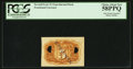Fractional Currency:Second Issue, Milton 2E5R.1 5¢ Second Issue Experimental PCGS Choice About New 58PPQ.. ...