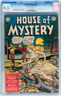 Golden Age (1938-1955):Horror, House of Mystery #1 (DC, 1952) CGC VG+ 4.5 Slightly brittle pages....