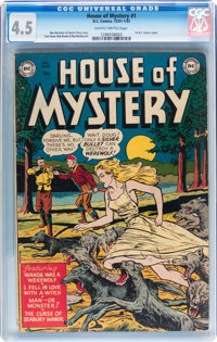 House of Mystery #1 (DC, 1952) CGC VG+ 4.5 Slightly brittle pages