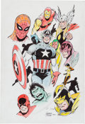 Original Comic Art:Illustrations, George Tuska - Avengers and Friends Illustration Original Art (2001)....