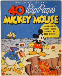 40 Big Pages of Mickey Mouse #945 (Whitman, 1936) Condition: VG/FN