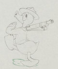 Animation Art:Production Drawing, Donald Gets Drafted Donald Duck Production Drawing AnimationArt (Walt Disney, 1942)....