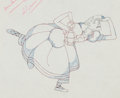 Animation Art:Production Drawing, Mother Goose Goes Hollywood Katherine Hepburn ProductionDrawing Animation Art (Walt Disney, 1938)....