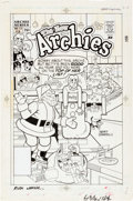 Original Comic Art:Covers, Henry Scarpelli and Rudy Lapick New Archies #12 CoverOriginal Art (Archie Comics, 1989)....