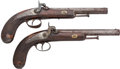 Handguns:Muzzle loading, Engraved Pair of Fine Percussion Parlor Pistols.... (Total: 2 )