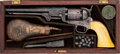 Handguns:Single Action Revolver, Cased Double Presentation Engraved Colt 1851 Navy Revolver to Identified Union Cavalry Officer William Domer....