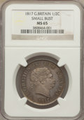 Great Britain, Great Britain: George III 1/2 Crown 1817 MS65 NGC,...