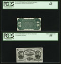 Fractional Currency:Third Issue, Fr. 1272SP 15¢ Third Issue Narrow Margin Pair PCGS New 62 and Choice About New 55.. ... (Total: 2 notes)