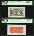 Fr. 1275SP 15¢ Third Issue Wide Margin Pair PCGS Choice About New 58PPQ and Choice About New 58