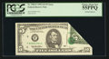 Error Notes:Foldovers, Fr. 1985-F $5 1995 Federal Reserve Note. PCGS Choice About New55PPQ.. ...