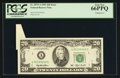 Error Notes:Attached Tabs, Fr. 2079-A $20 1993 Federal Reserve Note. PCGS Gem New 66PPQ.. ...