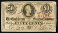 Confederate Notes:1863 Issues, T63 50 Cents 1863 PF-13 Cr. UNL.. ...