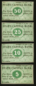 Obsoletes By State:New Hampshire, Concord, NH - State Capital Bank 5¢, 10¢, 25¢, and 50¢ Nov. 1, 1862 Remainders. ... (Total: 4 notes)