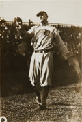 Baseball Collectibles:Photos, 1908 Ty Cobb Original News Photograph by Thompson, PSA/DNA Type1....