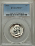 Washington Quarters, 1960 25C MS67 PCGS....
