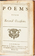 Books:Literature Pre-1900, [Lansdowne, George Granville, Baron]. Poems upon Several Occasions. London: For J. Tonson, 1712. 8vo. A2, a2, B-R8, ...