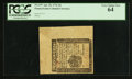 Colonial Notes:Pennsylvania, Pennsylvania April 25, 1776 3d PCGS Very Choice New 64.. ...