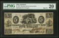 Obsoletes By State:Ohio, Kirtland, OH- The Kirtland Safety Society Bank $5 Mar. 8(?), 1837 G8 Rust 70 Wolka 1424-10. ...
