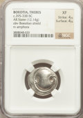 Ancients:Greek, Ancients: BOEOTIA. Thebes. Ca. 395-338 BC. AR stater (12.14 gm)....