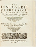 Books:Fine Press & Book Arts, [Sir Walter Raleigh]. [Antonio Galvao]. The Discoverie of Guianaby Sir Walter Raleigh, 1596 and The Discoveries of the ...