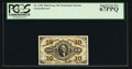 Fractional Currency:Third Issue, Fr. 1255 10¢ Third Issue PCGS Superb Gem New 67PPQ.. ...