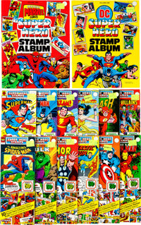 Super Hero Stamps Group (Celebrity Stamps, 1976).... (Total: 14 Items)