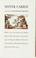 Books:Literature 1900-up, [Limited Editions Club]. Reginald Marsh, illustrator. SIGNED.Theodore Dreiser. Sister Carrie. New York: The Limited...