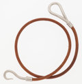 Luxury Accessories:Accessories, Hermes Natural Bridle Leather Double Tour Jumbo Bracelet withPalladium Hardware. ...