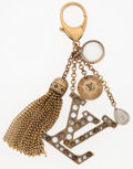 Luxury Accessories:Accessories, Louis Vuitton Brass Keychain with Clear & Amber Crystals. ...
