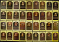Baseball Collectibles:Others, Baseball Greats Signed Hall of Fame Plaque Postcards Lot of 36....