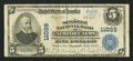 National Bank Notes:Virginia, Newport News, VA - $5 1902 Plain Back Fr. 606 The Schmelz NB Ch. #11028. ...
