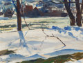 Fine Art - Painting, American:Modern  (1900 1949)  , JOHN FULTON FOLINSBEE (American, 1892-1972). Delaware River, NewHope, Pennsylvania, circa 1930s. Oil on canvasboard. 10...