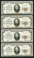 National Bank Notes:District of Columbia, Washington, DC - $20 1929 Ty. 1 The Riggs NB Ch. # 5046 Four Examples. ... (Total: 4 notes)
