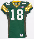 Football Collectibles:Uniforms, 1994 #18 Green Bay Packers Game Worn Jersey. ...