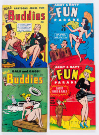 Army and Navy Fun Parade Plus Adult Digest Long Box Group (Fun Parade, 1950s) Condition: Average VG