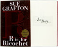 Books:Mystery & Detective Fiction, Sue Grafton. SIGNED. R is for Ricochet. [New York: G.P.Putnam's Sons, 2004]. First edition. Signed by the author ...