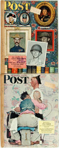 Books:Periodicals, [Periodicals]. [Norman Rockwell]. Two Issues of The Saturday Evening Post Featuring Cover Art by Norma...