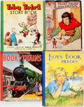 Books:Children's Books, [Children's]. Group of Four Children's Picture Books. Various publishers, ca. 1940s. Publisher's quarter cloth bindings over... (Total: 4 Items)
