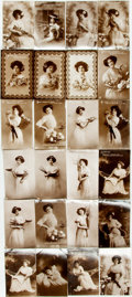 Miscellaneous:Postcards, [Postcards]. Group of Twenty-Four Black and White Photo Cards.London: E.A. Schwerdtieger, [n.d., ca. 1890s]. Curling slight...