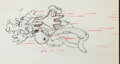 Animation Art:Production Drawing, Moose Hunters Goofy and Donald Duck Production DrawingAnimation Art (Walt Disney, 1937)....